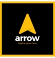 Arrow Up Letter A logo vector image vector image