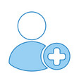 avatar user with pluss symbol vector image