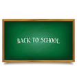 Back to school The inscription on the blackboard vector image vector image