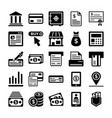 banking and finance line icons 1 vector image vector image