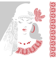 Beautiful woman with tracery clothes vector image vector image
