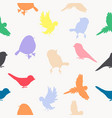 birds silhouettes fullcolor pattern vector image vector image