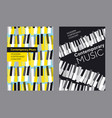 bright poster set for piano music concert vector image