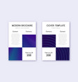 business cover design template set neon abstract vector image