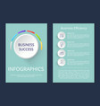 business success infographic vector image vector image
