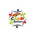 camp believe logo design template