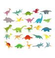 cartoon dinosaurs badino prehistoric animals vector image
