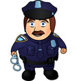 cartoon smiling policeman vector image