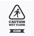 Caution wet floor icon Human falling symbol vector image vector image