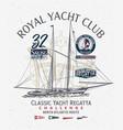 classic yacht club sailing atlantic regatta vector image vector image