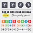 cogwheel icon sign Big set of colorful diverse vector image vector image