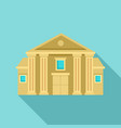 column courthouse icon flat style vector image vector image