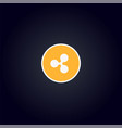 cripto currency logo coin ripple vector image