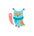 Cute owl with a sign for text vector image vector image