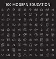 education icons editable line icons set on vector image vector image