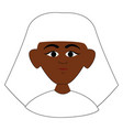 egyptian man on white background vector image vector image