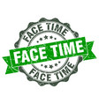 face time stamp sign seal vector image