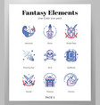 fantasy icons linecolor pack vector image vector image