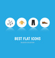 flat icon clothes set of pants banyan male vector image vector image