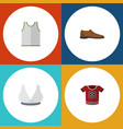 flat icon dress set of singlet brasserie t-shirt vector image vector image