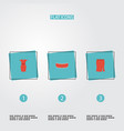 flat icons sundress apparel shorts and other vector image