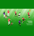 football school isometric infographics vector image vector image