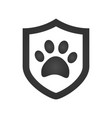 footprint of an animal in a shield icon element vector image