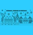 germany freiburg im breisgau winter holidays vector image vector image