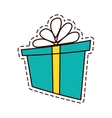 gift box ribbon parcel shopping color cut line vector image vector image