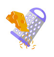 grating cheese icon flat vector image vector image