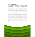 Green background for design vector image vector image