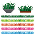 green grass and colorful grass every seasons vector image