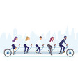 group office business people riding bicycle vector image vector image