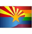 grunge arizona and gay flags vector image vector image