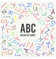 Hand drawn Children pencil ABC vector image vector image