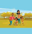 happy african american family with disabled girl vector image vector image