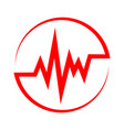 heartbeat icon in the circle vector image vector image