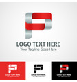 hi-tech trendy initial icon logo p vector image