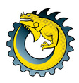 iguana gear logo vector image vector image