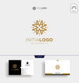 initial m luxury logo template and business card vector image