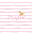 It s a Girl Baby shower template with gold vector image vector image
