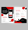 layout template design with mobile application vector image vector image