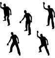man throwing vector image