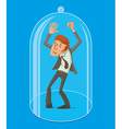 man under a glass dome vector image