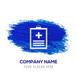 medical file icon - blue watercolor background vector image vector image