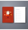 Modern message and email flat icon cards design vector image vector image