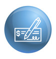 paper bill money icon outline style vector image