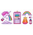 pixel art 8 bit objects character pony cloud vector image vector image