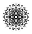 round black mandala on white isolated background vector image vector image