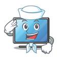 sailor lcd tv cartoon in living room vector image vector image